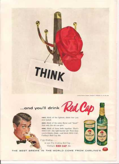 Red Cap Carlings Ale Beer (1956)