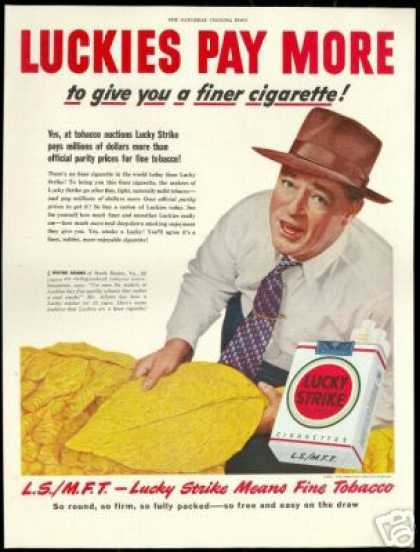Lucky Strike Tobacco Auction Cigarette (1950)