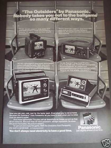 Panasonic Ac Dc Mini Tv Televisions 4 Models (1976)