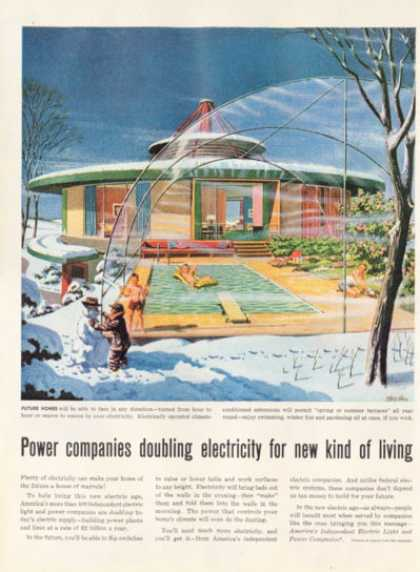 Electric Ad Future Home Spring Summer Winter Fall (1956)