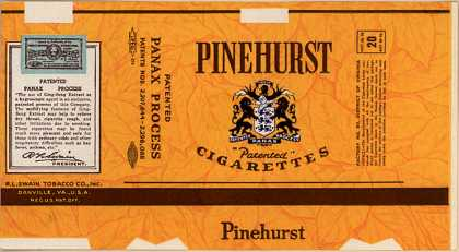R. I. Swain Tobacco Co.'s Pinehurst Cigarettes – Pinehurst Cigarettes