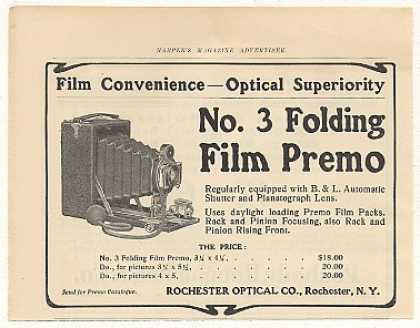 Rochester Optical No3 Folding Film Premo Camera (1905)