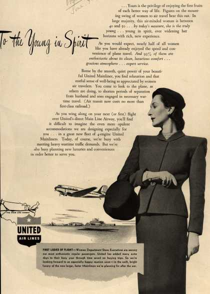 United Air Line's Mainliner – To the Young in Spirit (1945)