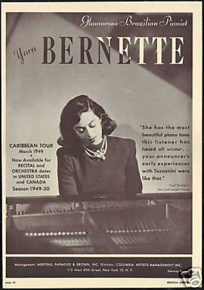 Brazilian Pianist Yara Bernette Tour Review (1949)