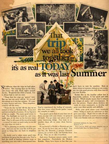 Kodak – That trip we all took together it's as real TODAY as it was last Summer (1921)