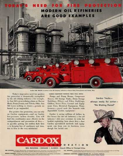 Cardox Fire Truck at Sun Oil Co. Penn (1950)