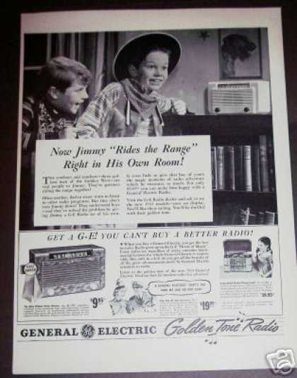 Cowboy Kid Photo Ge Radio Record Player (1940)