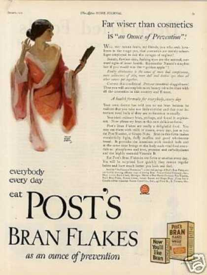 Post's Bran Flakes Cereal (1925)