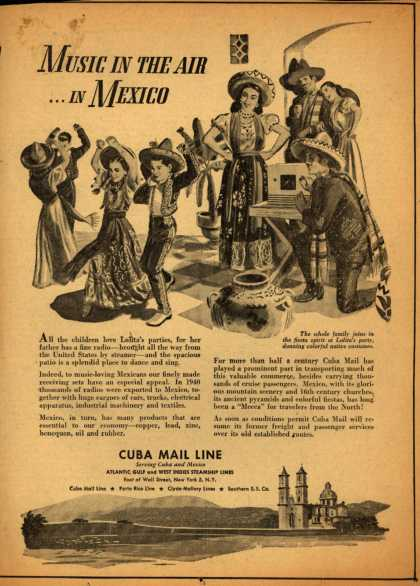 Cuba Mail Line's Mexico – Music In The Air ...In Mexico (1946)