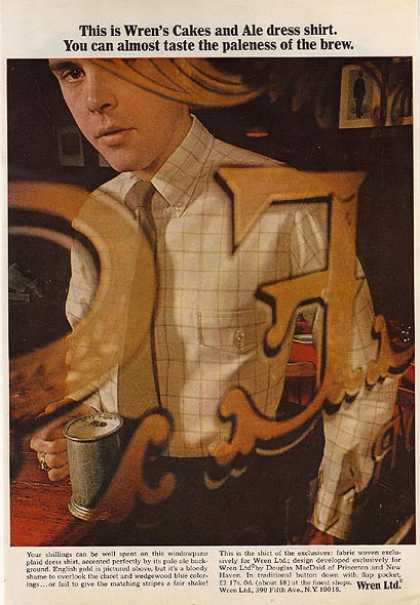 Wren's Cakes and Ale dress shirt (1966)