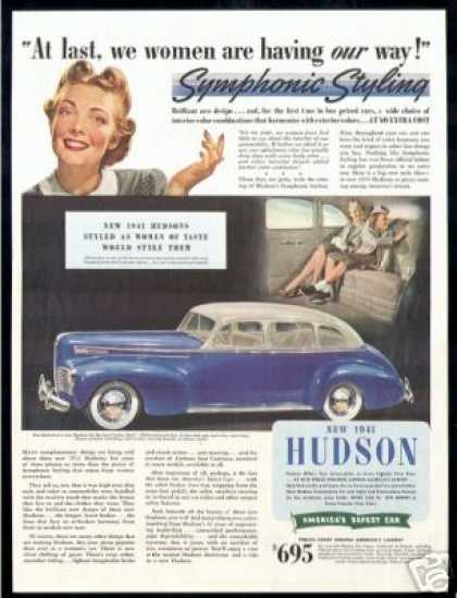 Hudson Six De Luxe Sedan Car (1941)