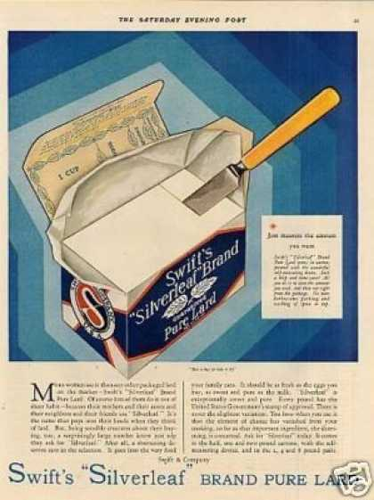 Swift's Silverleaf Lard (1930)