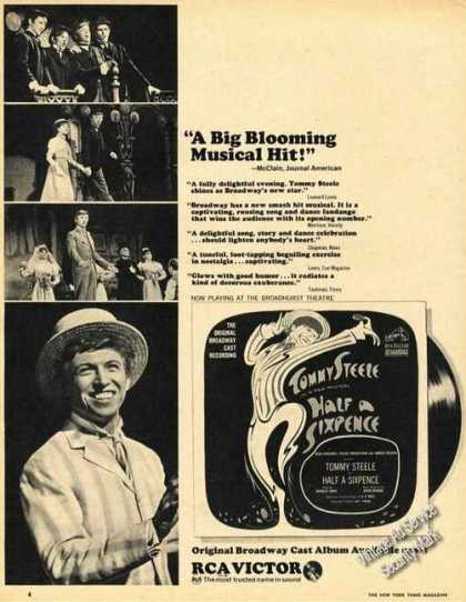 Tommy Steele Half Sixpence Theater Promo (1965)