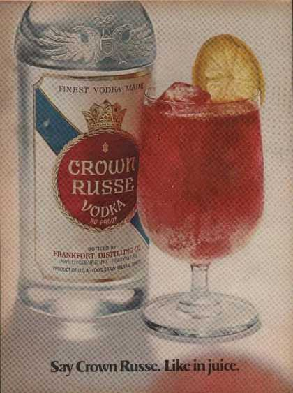 Crown Russe Vodka Like In Juice (1969)