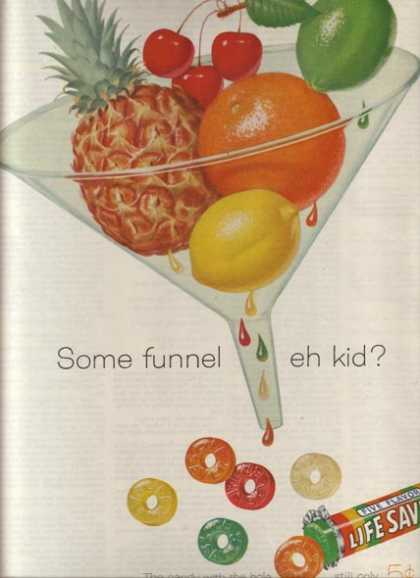 "Lifesaver's ""Some funnel eh kid?"" (1960)"
