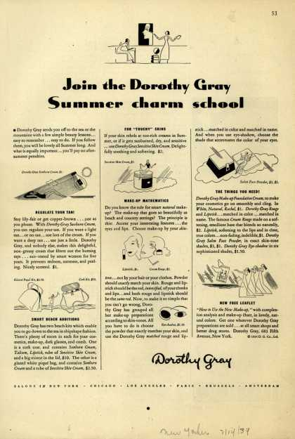 Dorothy Gray – Join the Dorothy Gray Summer charm school (1934)