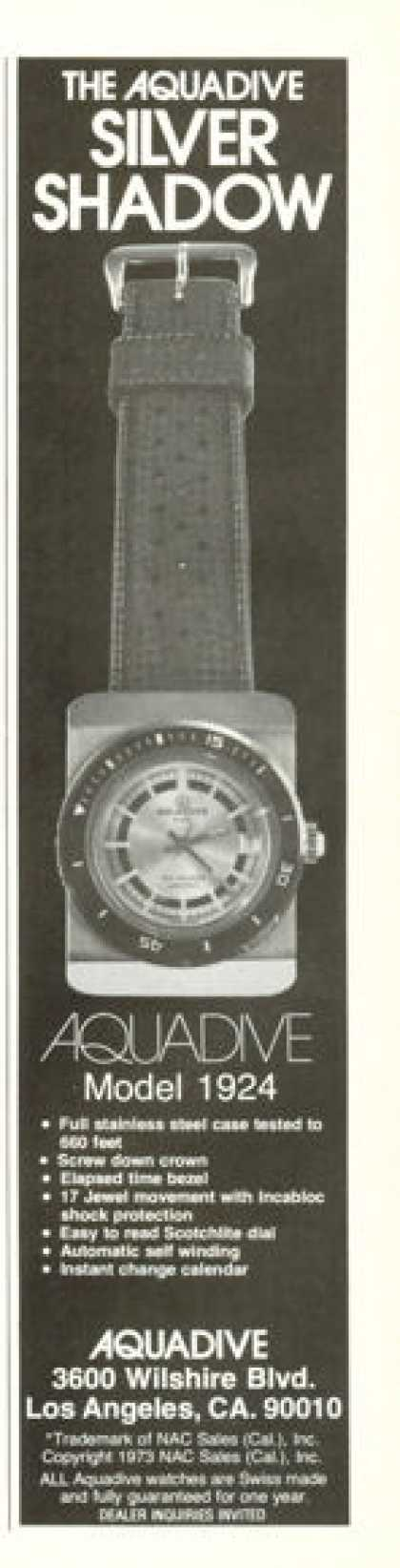 Aquadive Model 1924 Watch Scuba Diver (1976)