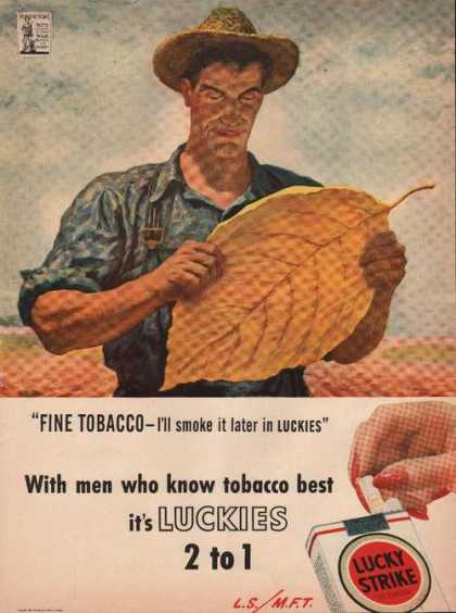 Fine Tobacco Lucky Strike Cigarettes (1944)