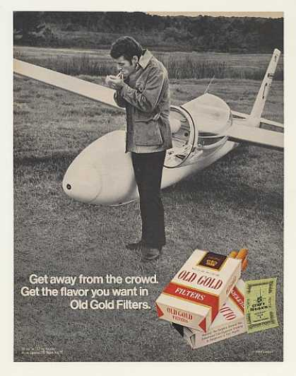 Old Gold Filters Get Away From Crowd Sailplane (1972)