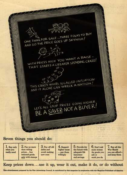 War Advertising Council's Anti-inflation – Seven things you should do: (1943)