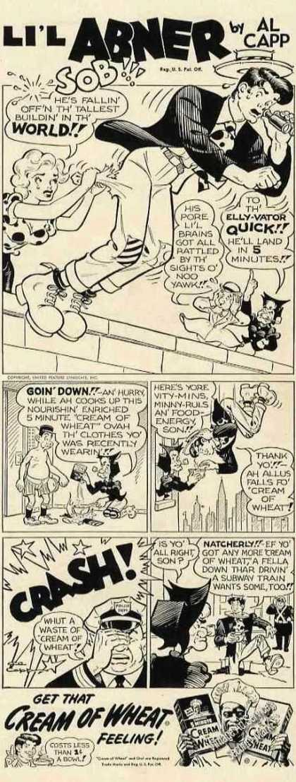 Li'l Abner By Al Capp Cartoon Cream of Wheat (1950)