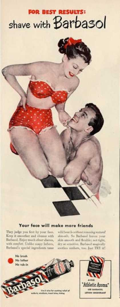 Barbasol Swimming Pool Pretty Woman Swim Suit Ad T (1948)