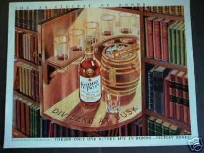 Kentucky Tavern Whisky Hidden Bar Art (1945)