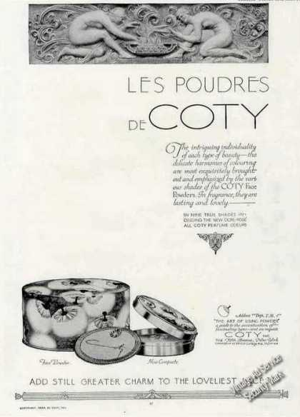 Les Poudres De Coty Antique Face Powder Box (1924)