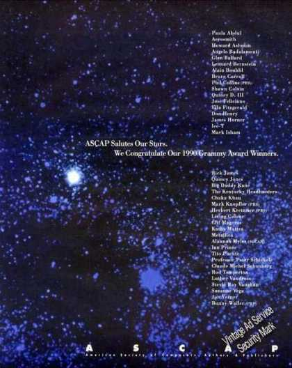 Ascap 1990 Grammy Award Winners List Nice (1991)