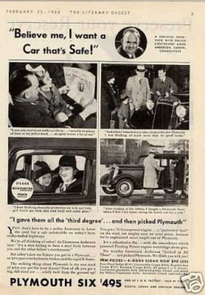 "Plymouth Six Car Ad ""Believe Me... (1933)"