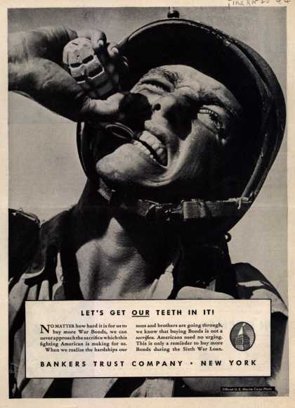 Bankers Trust Company's 6th War Loan – Let's get our Teeth In It (1944)