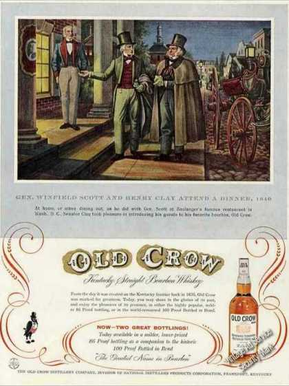 Gen Winfield Scott & Henry Clay Art Old Crow (1956)