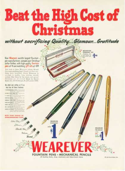 Wearever Fountain Pen Mechanical Pencil (1950)