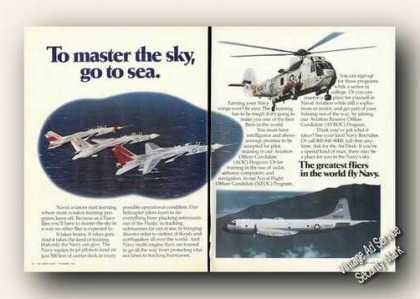 U S Navy Warplane Photos 2 Pg Recruiting (1973)