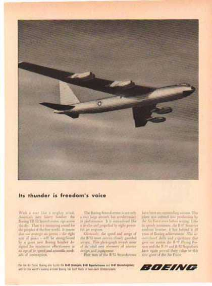Boeing Aircraft – YB-52 Stratofortress (1952)