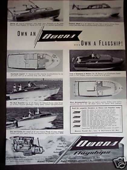 Owens Flagships Boats Yacht Cruisers (1953)