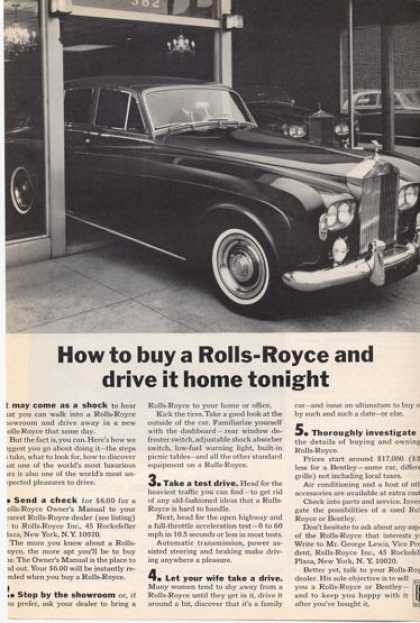 Rolls-royce How To Buy a Rr ... (1965)