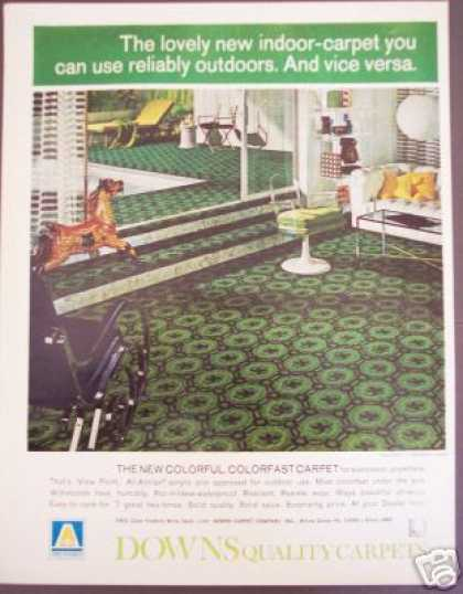 Downs Carpets Modern 70's Decor (1970)