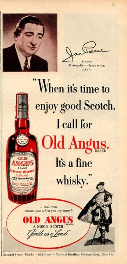Old Angus Scotch Whisky Bottle (1951)