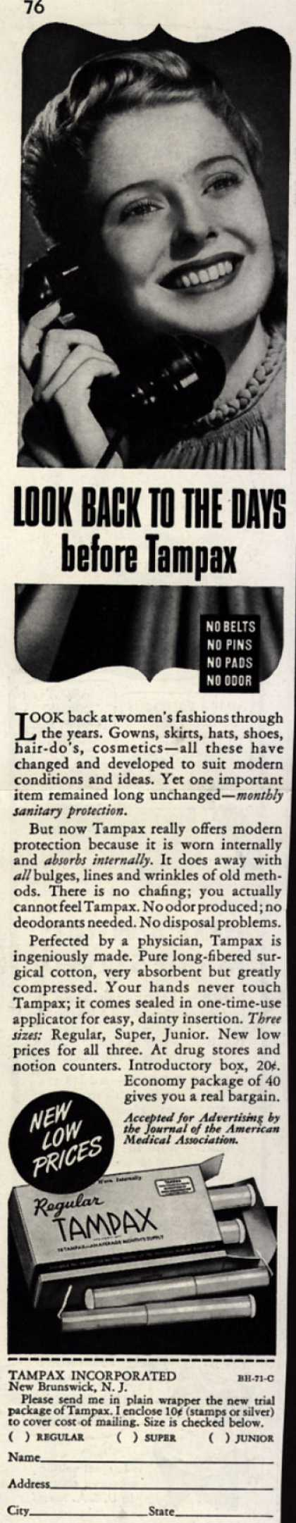 Tampax's Tampons – Look Back To The Days before Tampax (1941)