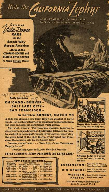 Burlington Route's California Zephyr – Ride the California Zephyr (1949)