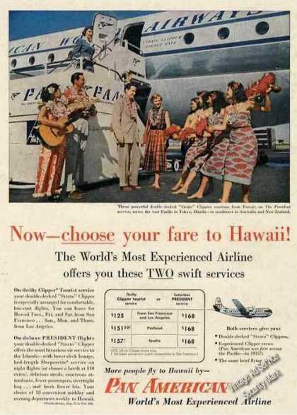 Pan American Choose Your Fare To Hawaii Strato (1953)
