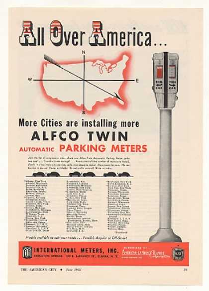 Alfco Twin Automatic Parking Meter (1950)