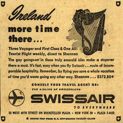 SwissAir's Ireland – Ireland, more time there... (1954)