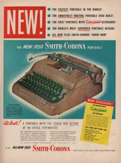 Smith Corona Portable Typewriter (1949)