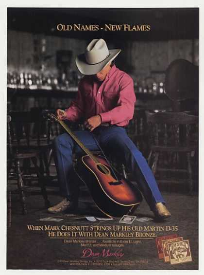 Mark Chesnutt Martin D-35 Dean Markley Photo (1993)