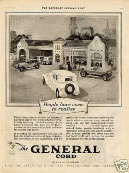 General Tire Ad Fred Mizen Art (1926)