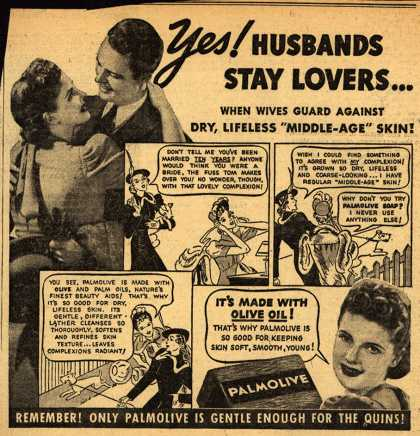 Palmolive Company's Palmolive Soap – Yes! Husbands Stay Lovers... (1938)