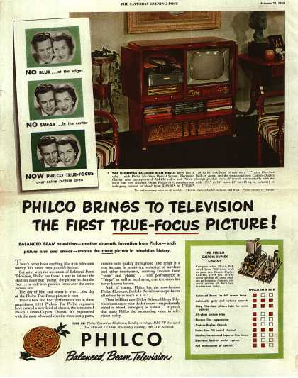 Philco's Television – Philco Brings To Television The First True-Focus Picture (1950)