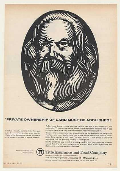 '62 Karl Marx Abolish Land Ownership Title Insurance (1962)